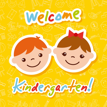 kinder garten cartoon icon vector illustration design graphic