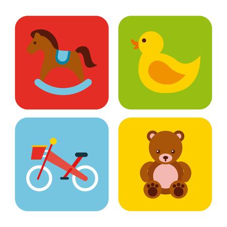Set van speelgoed Stock Illustratie