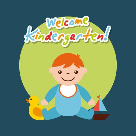 kinder garten scenary icon vector illustration design graphic