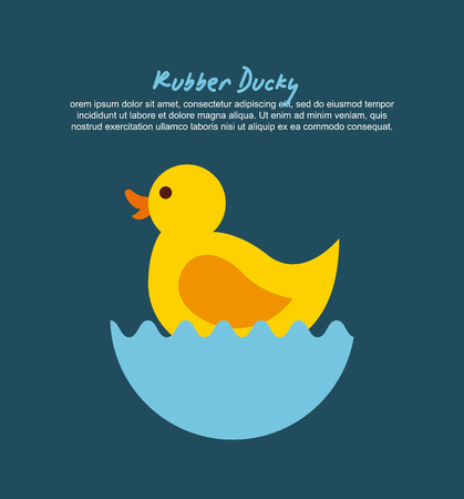 Rubber ducky cartoon pictogram vector illustratie ontwerp grafisch