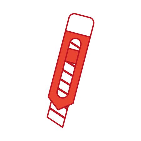 Het gevoelige grafische ontwerp van de het pictogram vectorillustratie van het scherpe mes Stock Illustratie