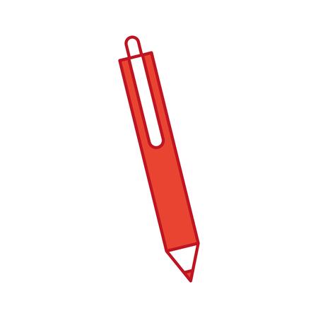 writing instruments: Pencil writing instrument icon vector illustration design graphic Illustration