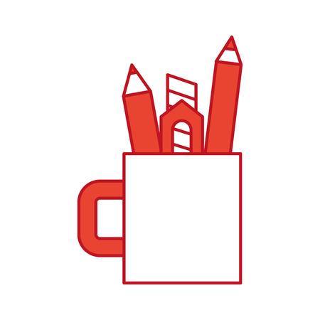 topografia: Glass save instruments drawing icon vector illustration design graphic