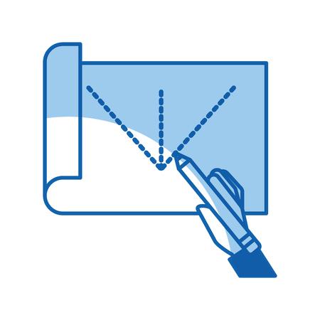 Blad tekening ideeën pictogram vector illustratie ontwerp grafisch