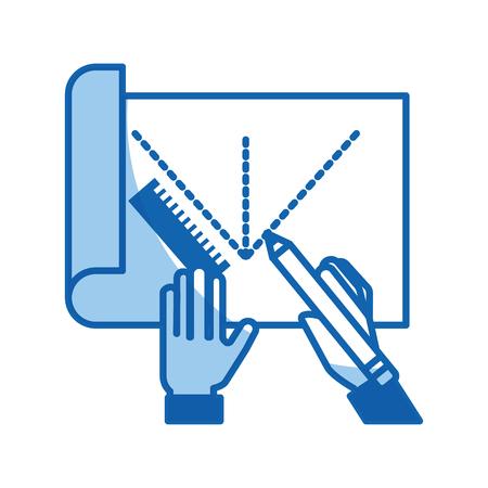 Blatt zeichnen Ideen Symbol Vektor-Illustration Design Grafik Standard-Bild - 80908308