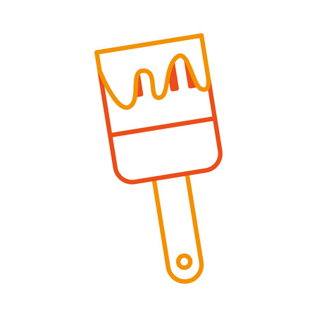 Instrument brush work icon vector illustration design graphic.