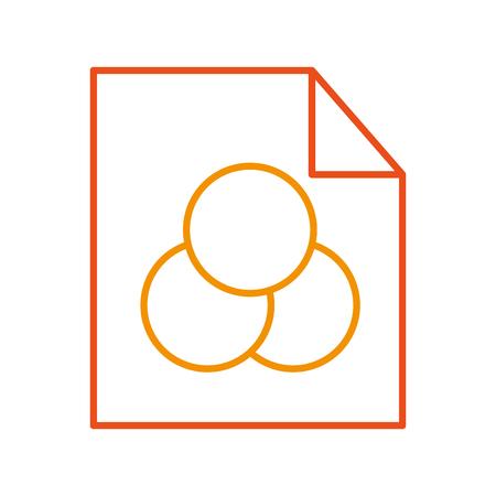 Blatt zeichnen Ideen Symbol Vektor-Illustration Design Grafik Standard-Bild - 80908352