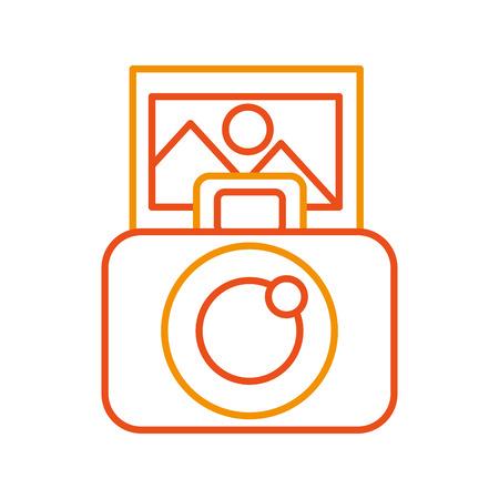 사진 카메라 디지털 아이콘 벡터 일러스트 디자인 그래픽