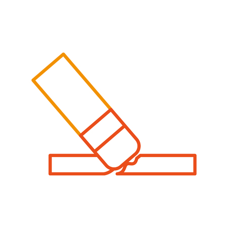 Pencil writing instrument icon vector illustration design graphic Illustration