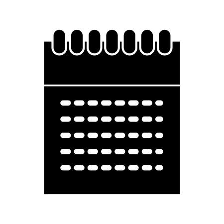 Calendar dates commitments dark vector illustration design graphic Stock Vector - 80908500
