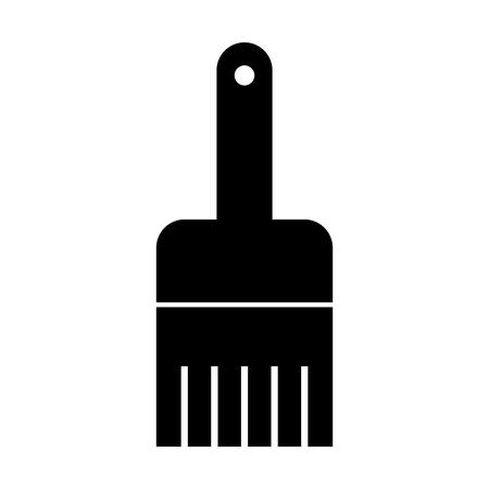 Instrument brush work dark vector illustration design graphic