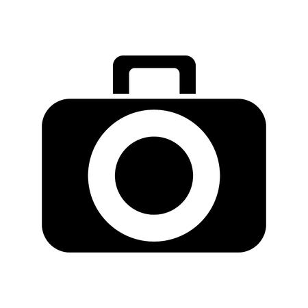 A photographic camera digital dark vector illustration design graphic.