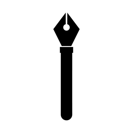 Pen tip draw dark vector illustration design graphic
