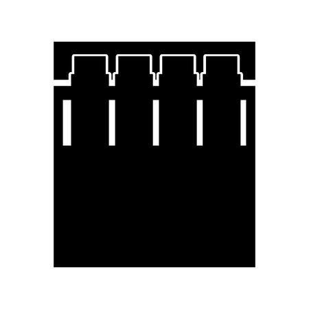 Mooi grafisch de illustratieontwerp van de stadsplaats donker vector