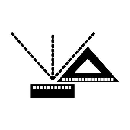 Squared measured grades dark vector illustration design graphic.