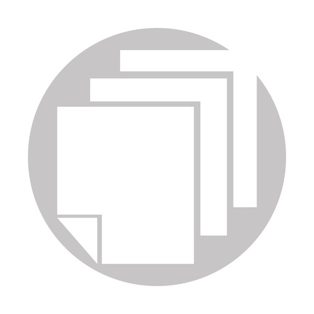 Sheets paper information icon vector illustration design graphic.