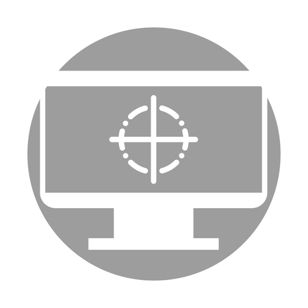 to mend: Computer electronic work icon vector illustration design graphic