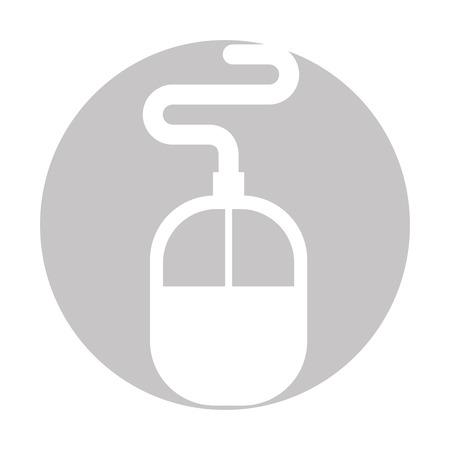 Computer accessory mouse icon vector illustration design graphic.