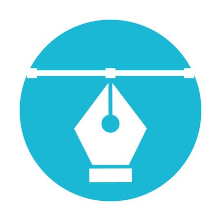 Het pentip trekt grafisch ontwerp van de pictogram het vectorillustratie. Stock Illustratie