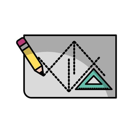 Blad teken ideeën schaduw vector illustratie ontwerp grafisch