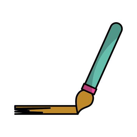 Paint brush draw shadow vector illustration design graphic