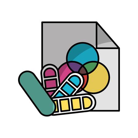 Blatt zeichnen Ideen Schatten Vektor-Illustration Design Grafik Standard-Bild - 80920980