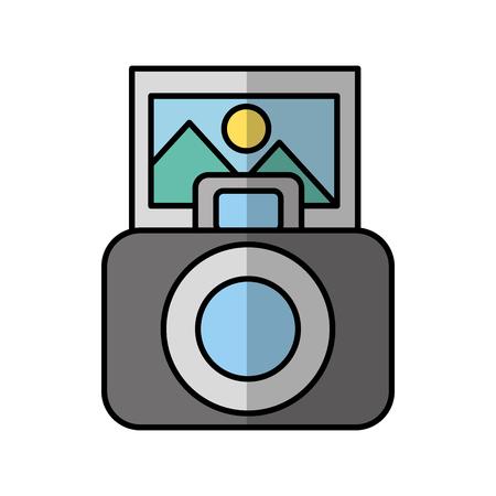 Het fotografische grafische ontwerp van de camera digitale schaduw vectorillustratie