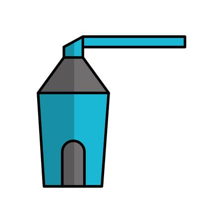 Household liquid element shadow vector illustration design graphic