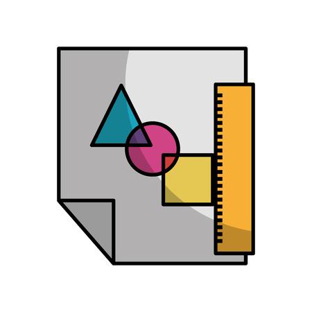 Hoja de dibujar las ideas sombra ilustración vectorial diseño gráfico Foto de archivo - 80908579