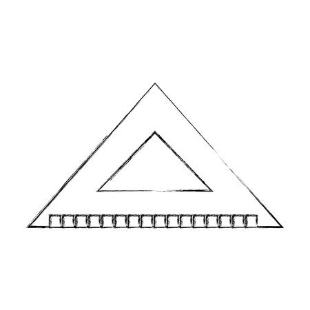 Squared measured grades draw  vector illustration design graphic