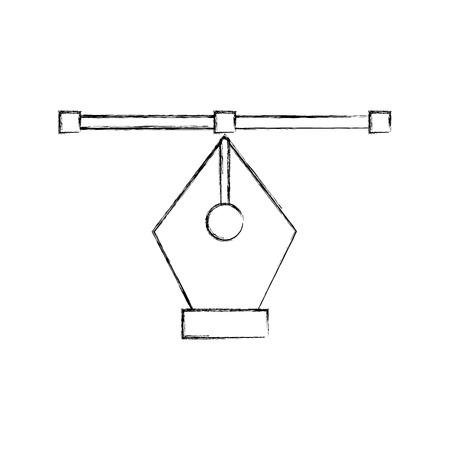 Het uiteinde van de pen trekt grafisch de illustratieontwerp van het teken Stockfoto - 80908584