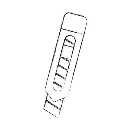 Delicate snijmes teken vector illustratie ontwerp grafisch