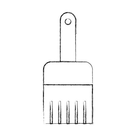 Het werk van de instrumentenborstel trekt vector grafisch illustratieontwerp