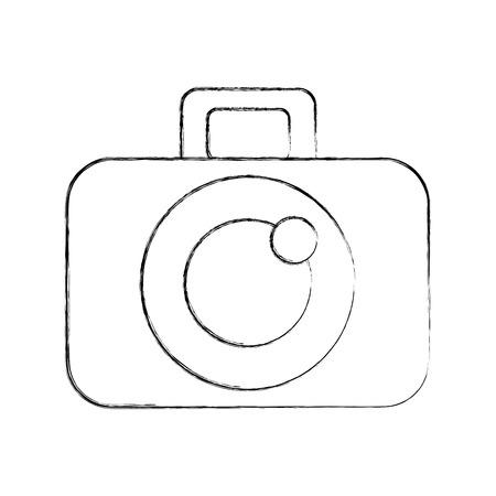 De fotografische digitale camera trekt vector grafisch illustratieontwerp