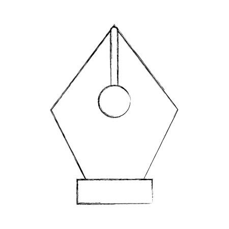 Het uiteinde van de pen trekt grafisch de illustratieontwerp van het teken Stock Illustratie