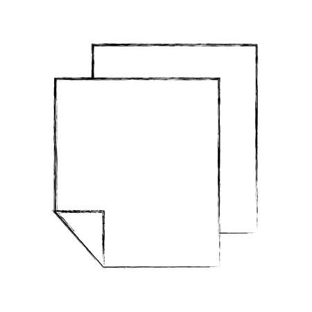 Sheets paper information draw  vector illustration design graphic Ilustração
