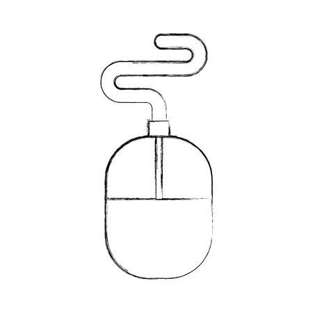 De computer bijkomende muis trekt vector grafisch illustratieontwerp Stockfoto - 80908654