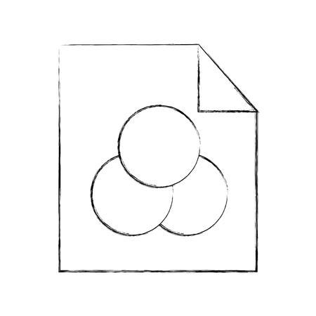 Illustrationsgraphik des Blattabgehobenen betrages Ideen zeichnen Vektorillustration Standard-Bild - 80908747