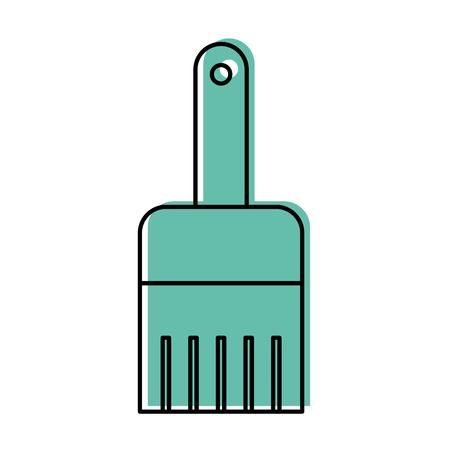 Van het het werkpictogram van het instrumentenborstel grafisch de illustratieontwerp Stock Illustratie
