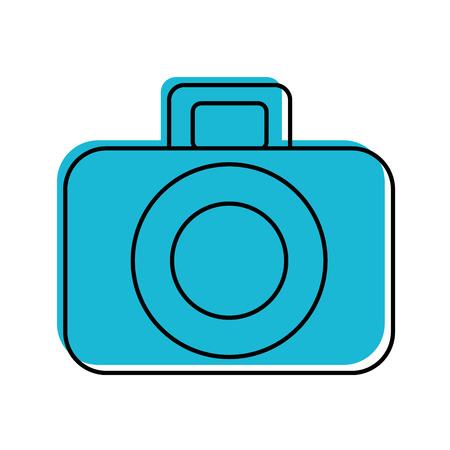 Het fotografische grafische ontwerp van de camera digitale pictogram vectorillustratie