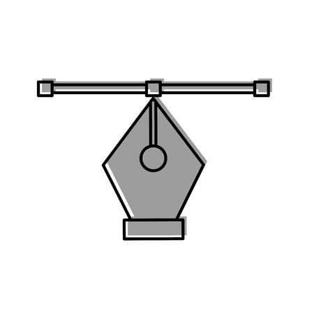 Het pentip trekt grafisch ontwerp van de pictogram het vectorillustratie Stock Illustratie