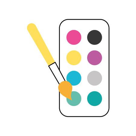 Combinar paleta de colores icono de ilustración vectorial diseño gráfico Foto de archivo - 80921183
