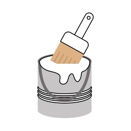 Instrument brush work icon vector illustration design graphic