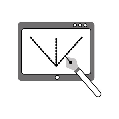 Tablet drawing work icon vector illustration design graphic