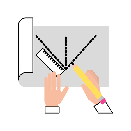 シートはアイデア アイコン ベクトル イラスト デザイン グラフィックを描画します。
