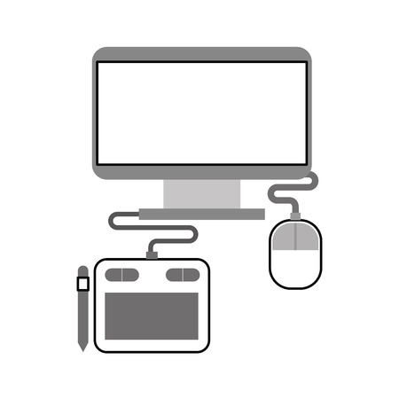 コンピュータ電子作業アイコンベクトルイラストデザイングラフィック