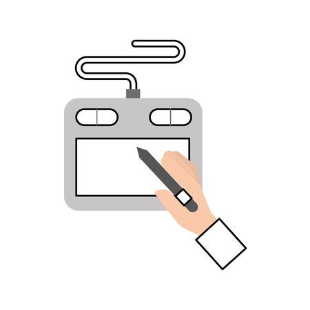 技術見習いデザイナー アイコン ベクトル イラスト デザイン グラフィック