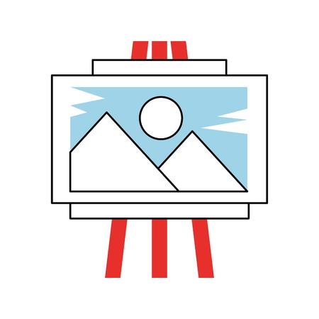 아이디어 플라즈마 보드 아이콘 벡터 일러스트 디자인 그래픽