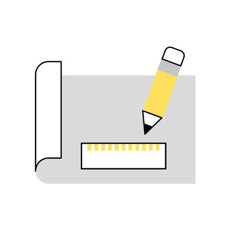 シートドローアイデアアイコンベクトルイラストデザイングラフィック  イラスト・ベクター素材