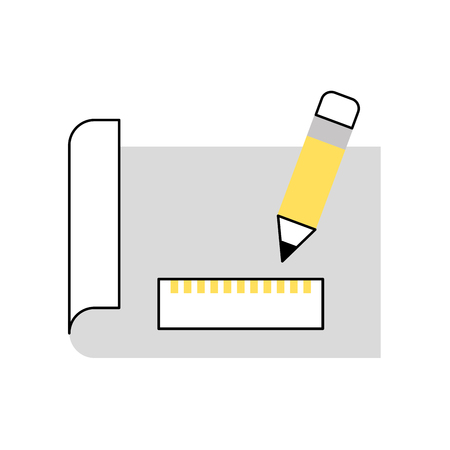 Sheet draw ideas icon vector illustration design graphic